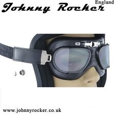 Johnny Rockers Speed BK1 Aviator motorcycle goggles