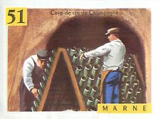 IMAGE CARD 60s DEPARTEMENTS FRANCE 51 MARN CHALONS-SUR-MARNE Cave Vin Champagne