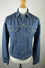"Superb men's Tommy Hilfiger jeans mid blue denim jacket size large 46"" chest"