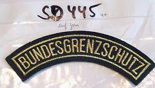 Bundesgrenzschutz BGS Schriftbogen golden auf grün (sd445)