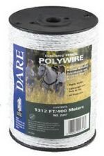 Dare Products Electric Fence 1312' White Poly Wire 2347