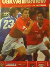 BARNSLEY v. CHESTERFIELD Programme sunday 28th December 2003