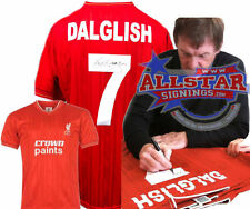 KENNY DALGLISH SIGNED LIVERPOOL 7 SHIRT SEE PROOF EXCLUSIVE SIGNING FOR ALLSTARS