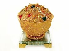 Feng Shui Golden Money Bowl with Crystal Stand for Wealth