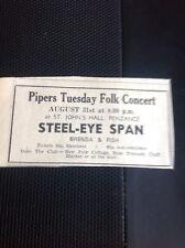 H7-1 Ephemera 1971 Advert Penzance Steeleye Span Folk Concert
