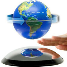 6 inch Magnetic Levitation Floating Globe World Map Blue Birthday Gift Decro
