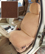 Plush Sherpa Brown Car Seat Cover and Headrest Cover for Cars Trucks SUVs