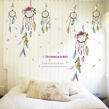 Dream Catcher Wall Decal Dreamcatcher Art Feather PVC DIY Sticker Boho Bedroom