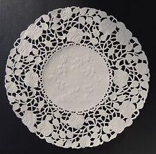 "25 -  8"" Off White ROSE FLORAL Lace Paper Doilies | Invitation Wrap Paper Doily"