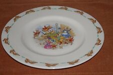 "ROYAL DOULTON MADE IN ENGLAND BUNNYKINS 8"" PLATE FINE BONE CHINA FOOD FIGHT"
