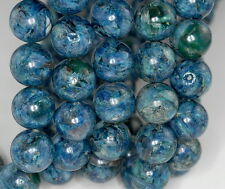 16MM SUPER KYANITE GEMSTONE BLUE ROUND LOOSE BEADS 7""