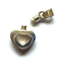 Sterling Silver Small Cutout Heart Perfume Bottle Pendant                 B16075