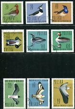 POLAND 1964 WATER BIRDS - FOWL SET OF 9 STAMPS COMPLETE!