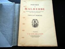 Poésies de Malherbe - Introduction par Tristan Derème 1928