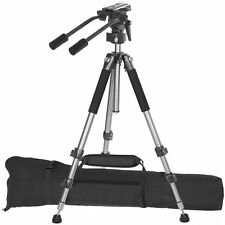 Ravelli AVT Professional 67-inch Video Camera Tripod with Fluid Drag Head, New