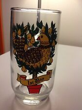 Final Sale Vintage Retro Twelve Days of Christmas Drinking Glass - 12 oz. Day 1