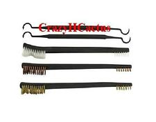 5 Piece Shotgun Rifle Cleaning Brushes Brush Kit Set Copper/Brass/Nylon+Picks!!