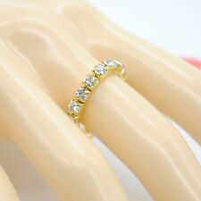 2 Pcs Fashion Gold Crystal Rhinestone Jewelry Ring Stretch Elastic Finger Ring