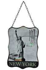 "10.5"" New York Statue Of Liberty Vintage Style Metal Wall Sign Plaque Decor"