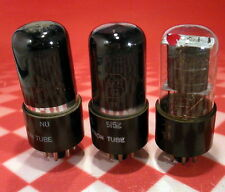 LOT OF 3 6K6 Vacuum Tubes - TESTED GOOD