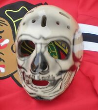 WARREN SKORODENSKI CHICAGO BLACKHAWKS REPLICA VINTAGE GOALIE SKULL MASK HOCKEY