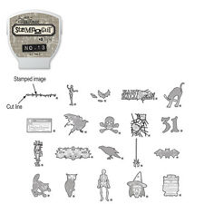 Sizzix / TIM HOLTZ eclips Cartridge Stamp 2 Cut No. 13 HALLOWEEN