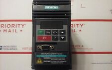 SIEMENS DRIVE 0.33HP 230V MICROMASTER VECTOR 6SE3-211-5CA40