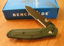 BENCHMADE New Green Handle Osborne Black Part Serrated S30V Blade Knife/Knives