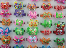 Free ship Lots Mixed style 20pcs charming butterfly polymer clay child rings