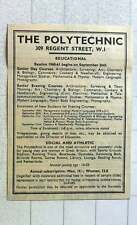 1960 Regent St Polytechnic Open For Courses Social And Athletic