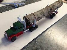 ULRICH MODELS HO SCALE 1/87 CLASSIC KW NEEDLE NOSE WITH LOGGING TRAILER  METAL
