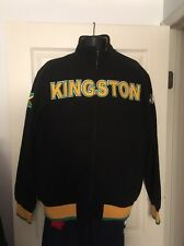 RARE~KAPPA JAMAICA REGGAE men's FLEECE Track sweat shirt Top Jacket~mens sz ned