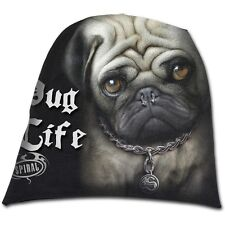 Spiral direct PUG life beanie hat biker/gothique/chiot/chien/mignon/light cotton