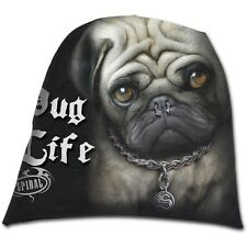Spiral Direct PUG LIFE beanie hat biker/gothic/puppy/dog/cute/cotton/punk/slouch