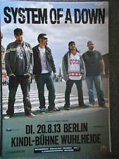 System of a Down 2013 Berlin orig. concert-concert-tour-poster - affiche Din a1