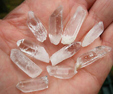10 x QUARTZ CRYSTAL SMALL SLIM POINTS A GRADE BRAZIL 18mm - 22mm  BAG * ID CARD