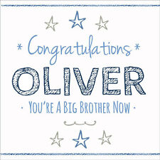Congratulations You're a Big Brother Now Card ~ Quality Boys Personalised Name