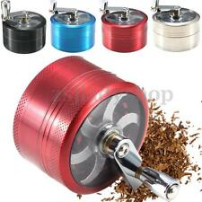 New 3 Part Hand Crank Herb cigarette Smoke Spice Grinder Crusher Mill 55x32mm