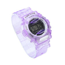 Boys Girls Children Students Waterproof Digital Wrist Sport Watch Purple Gift