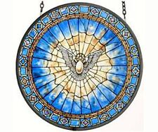 Holy Spirit Roundel Sun Catcher - Stained Glass Sun Catcher  Masterwork  GM1013