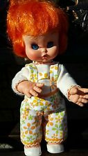 Furga Italy Vintage Vinyl Doll Red Hair Jumper Original outfit Shoes 11""
