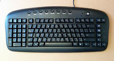 Both (or Left) handed Keyboard (USB) Black (UK layout)
