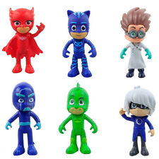 6pcs PJ Masks 8-9cm Catboy Owlette Gekko Cloak Aktion Figuren Kinder Toy Set PVC