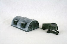 WW2 AIRFIELD SET NISSAN HUT & SEARCH LIGHT SET  28mm Laser cut MDF