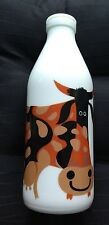 VINTAGE ITALIAN MILK BOTTLE GLASS WITH COW BY EGIZIA