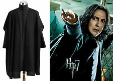 Harry Potter Deathly Hallows Severus Snape Costume Cosplay Black Ver Custom Made