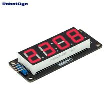 LED display tube, 4 bits TM1637 driver, 4-Digit , 7-segments, RED for Arduino