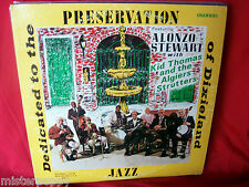 ALONZO STEWART with KID THOMAS and the ALGIERS STOMPERS LP USA 1970s MINT-