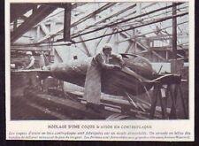 1920  --  MOULAGE DUN E COQUE D AVION EN CONTREPLAQUE  T590
