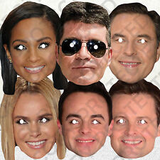 BRITANS GOT TALENT 6 CELEBRITY FACE MASKS PACK DIY SET MASK SIMON COWELL #MP7!